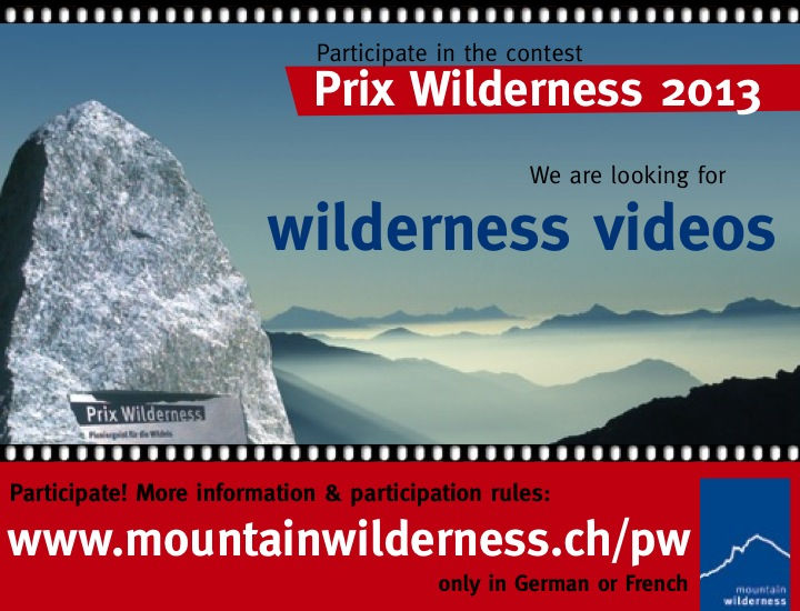 2013 - 6 May - MW Switzerland's Wilderness Award (en)