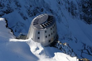 The Gouter Hut on the Mt-Blanc normal way