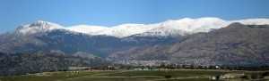General view of center part of Guadarrama