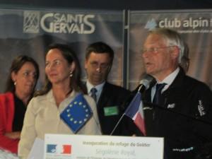 Ségolène Royal and French Alpine Cub President Georges Elzière