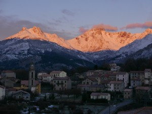 Sunrise on the Paglia Orba, from our house