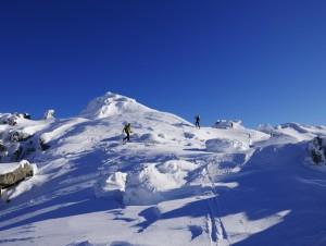 On the slopes of the Cinto