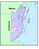 Location of the Chiquibul National Park in Belize
