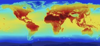 Temperature map of the Earth