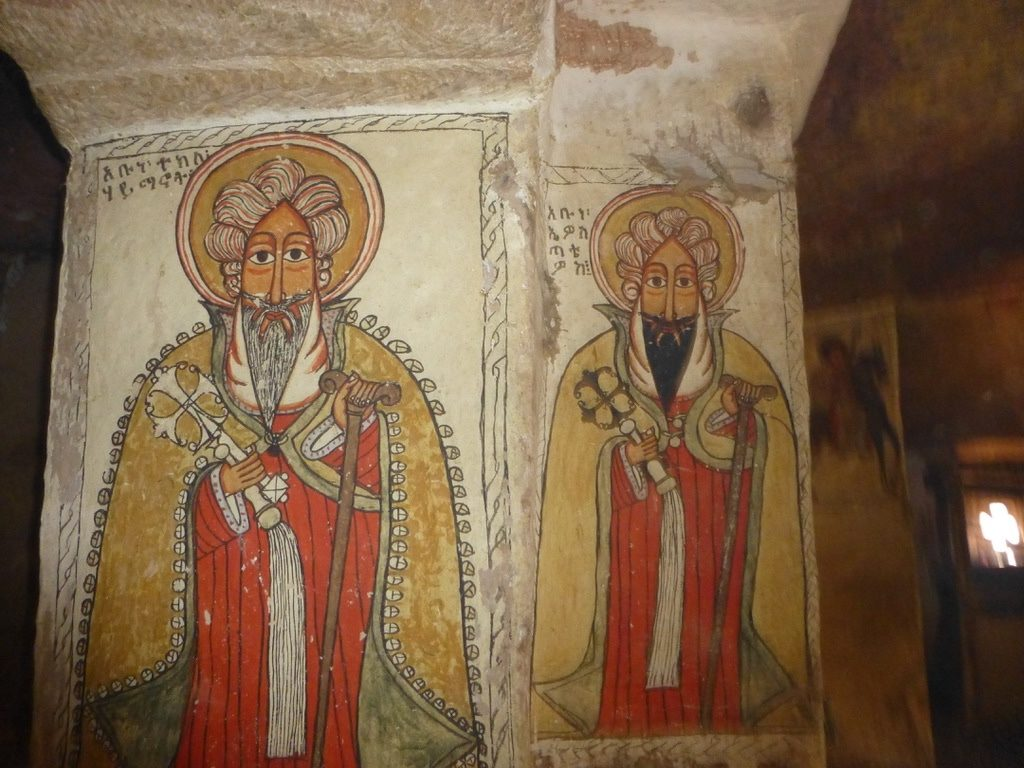 Fresco paintings in the church