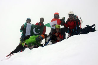 On the top (6,050 m)
