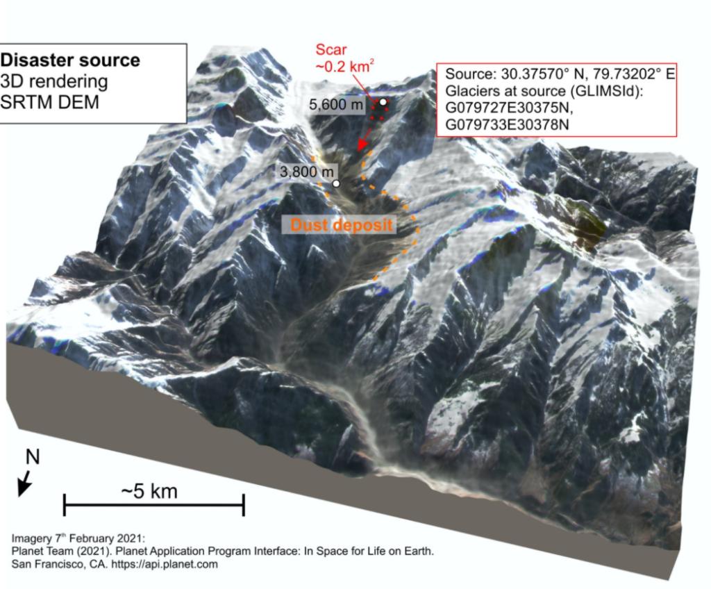 Uttarakhand disaster map