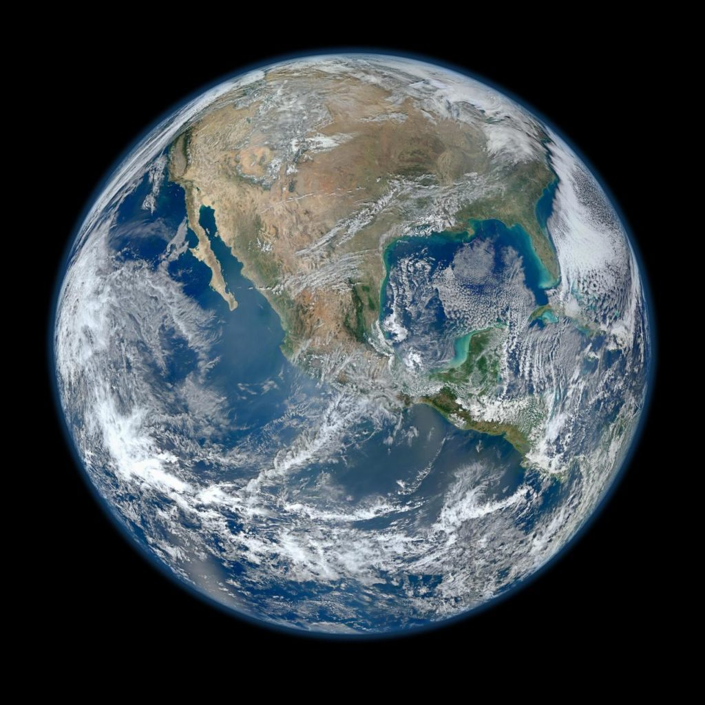 Earth seen from sky (picture by NASA)