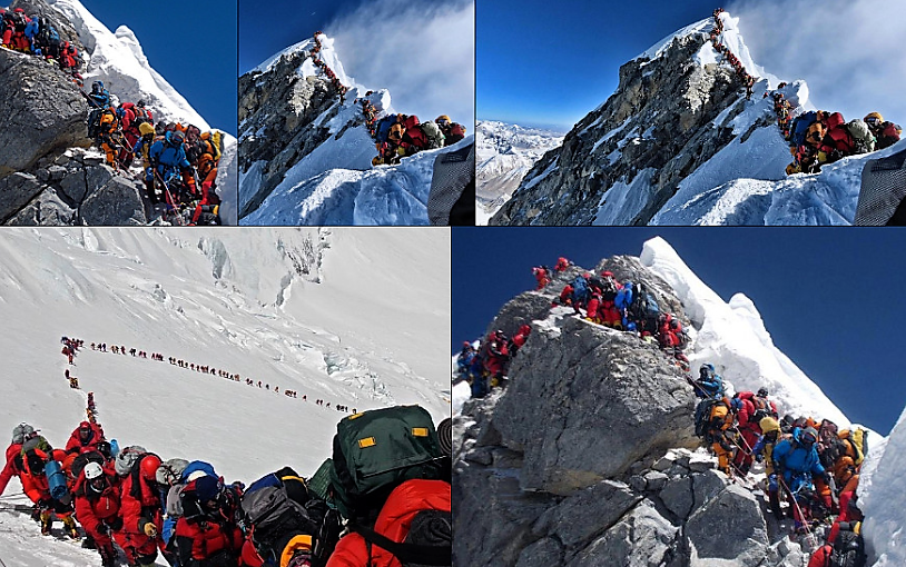 Everest summit crowded by commercial expeditions