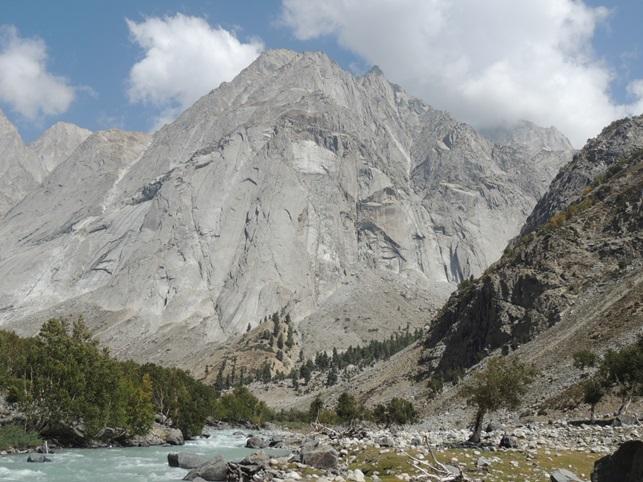 Impressive granite wall of Diwangar